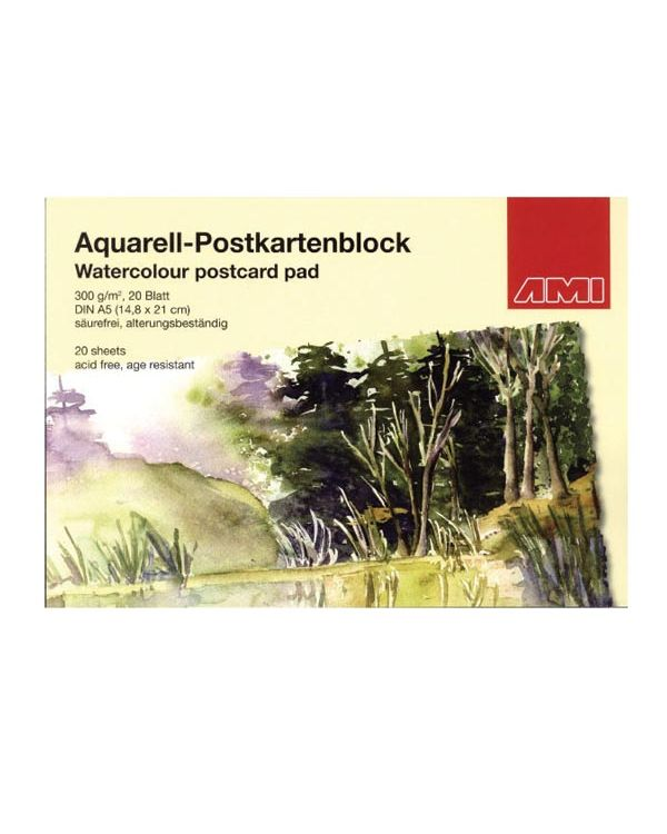 A6 - Watercolour Postcard Block - AMI
