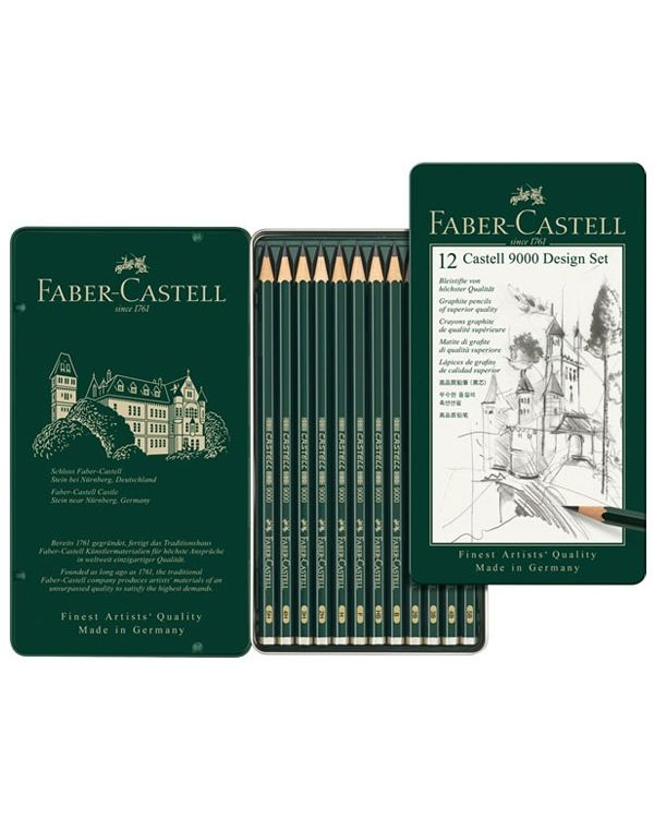 Design Set of 12 - Faber Castell 9000 Pencil Set
