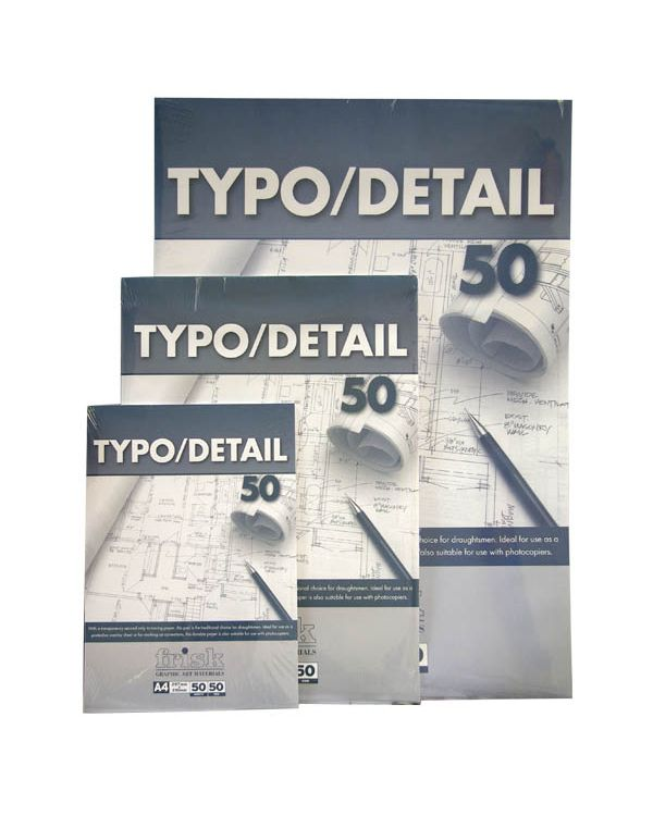 53gsm Typo Detail Pad - 50 sheets - Frisk