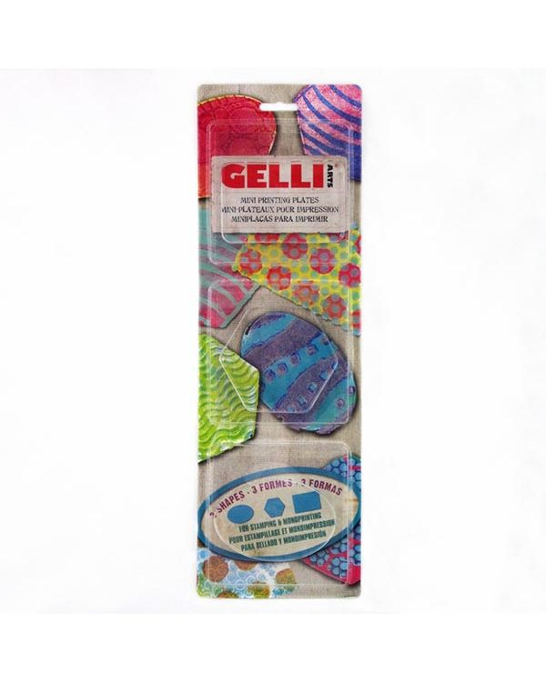 Oval, Rectangle, Hexagon - Mini Gelli Printing Plate