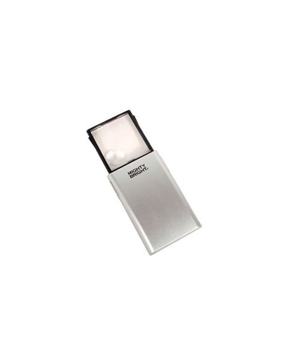 LED pop up magnifier silver