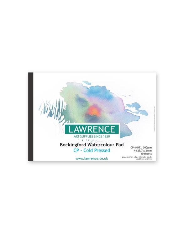 NOT - A4 Lawrence Pad - 300gsm - Bockingford Watercolour Glued Pad