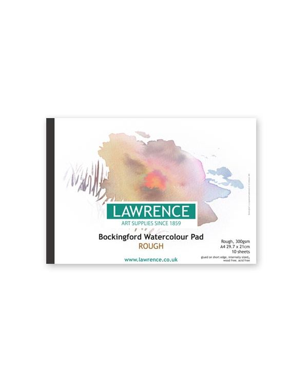 ROUGH - A4 Lawrence Pad - 300gsm - Bockingford Watercolour Glued Pad