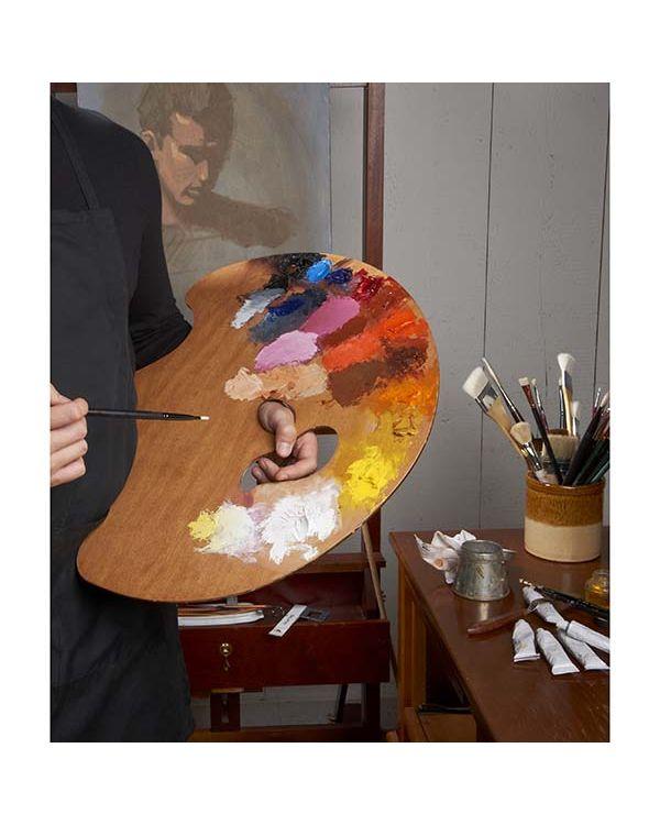 Grand View Confidant - Left Hand - 45.4 x 56.5cm - Wooden Palette - New Wave