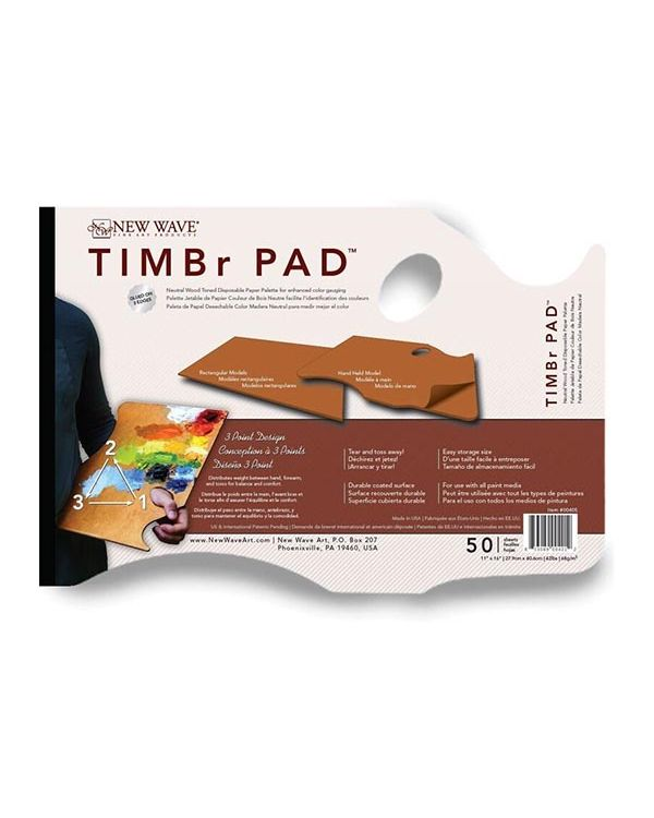 26 x 40cm Hand Held - TIMBr Disposable Palette - New Wave