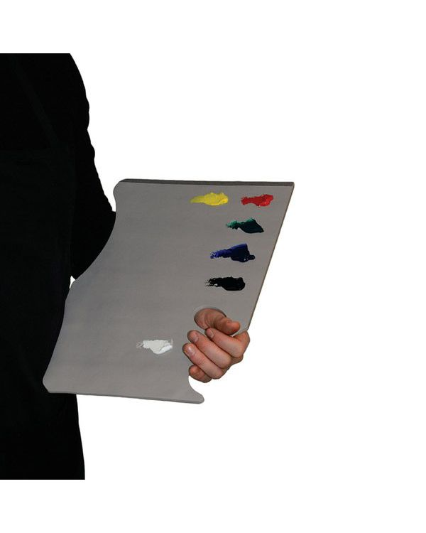 Grey Pad Hand Held - 28 x 40cm - 50 sheets - Disposable Palette - New Wave