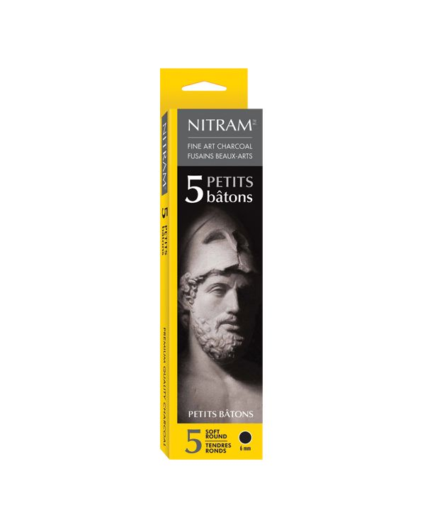 Petits Bâtons - Soft Round 6 mm - Nitram Charcoal