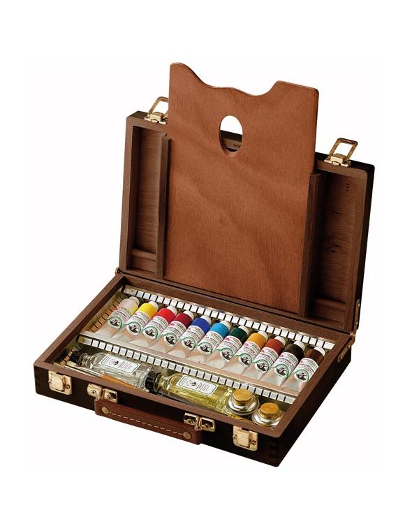 11 x 40ml colours in Wooden Box - Old Holland Oil Set