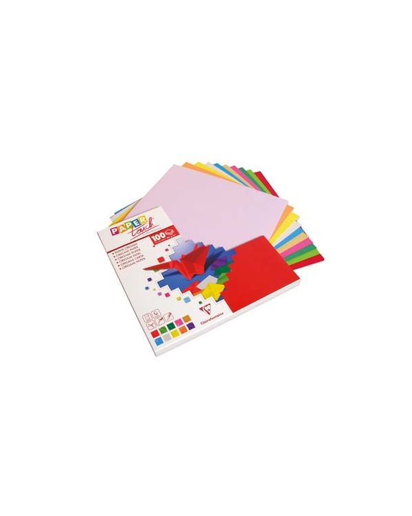 20 x 20cm x 100 sheets Origami Paper - Clairefontaine