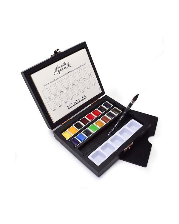 La Petite Aquarelle Watercolour set of 16 x Half Pans - Sennelier
