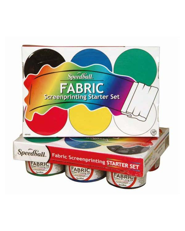 Speedball Fabric Screen Printing Starter Set (6) 4 oz jars