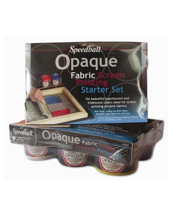 Speedball Opaque Fabric Screen Printing Starter Set