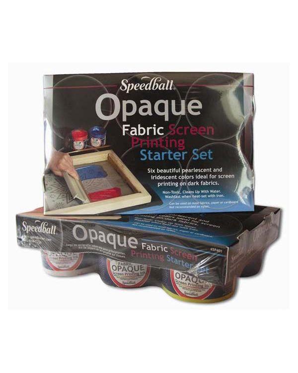 Opaque Fabric Screen Printing Starter Set - Speedball