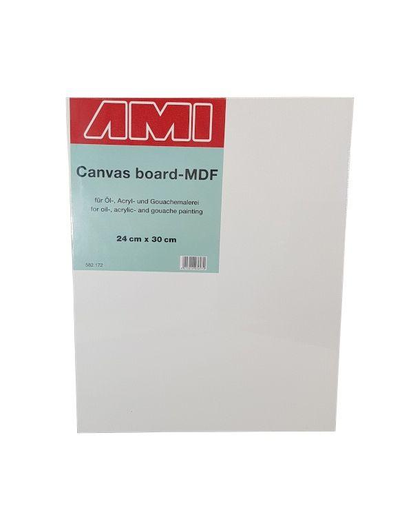 24 x 30cm - Canvas Laminated MDF Panel 3.2mm deep