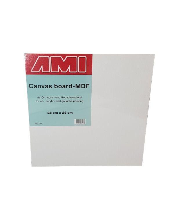 25 x 25cm - Canvas Laminated MDF Panel 3.2mm deep