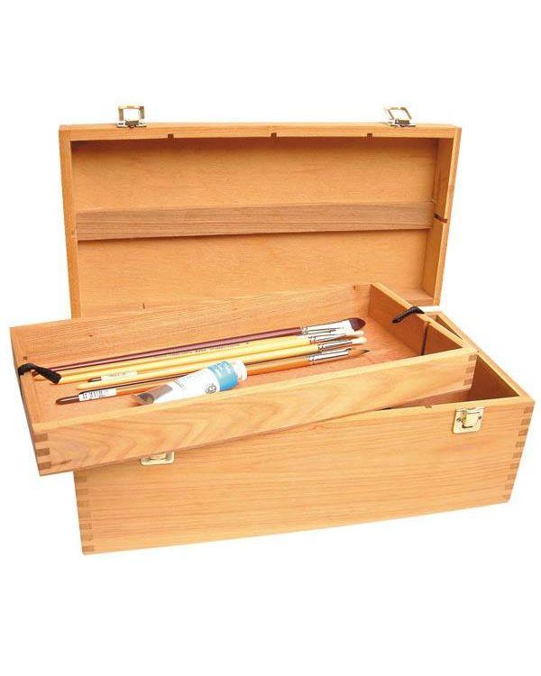Painting box Artists Wooden Box 40x20x15cm -