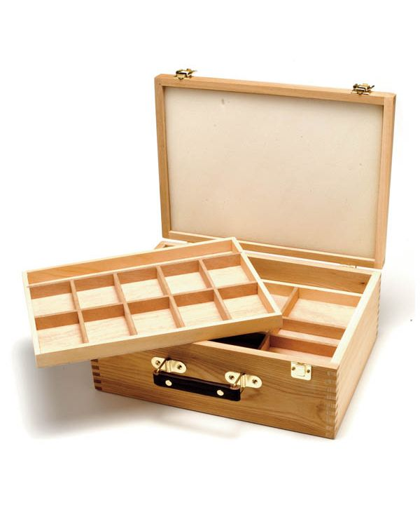 Wooden Pastel box 4 Trays