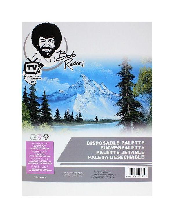 """30.5cm x 40.6cm (12"""" x 16"""") Bob Ross Disposable Palette 50 sheets"""