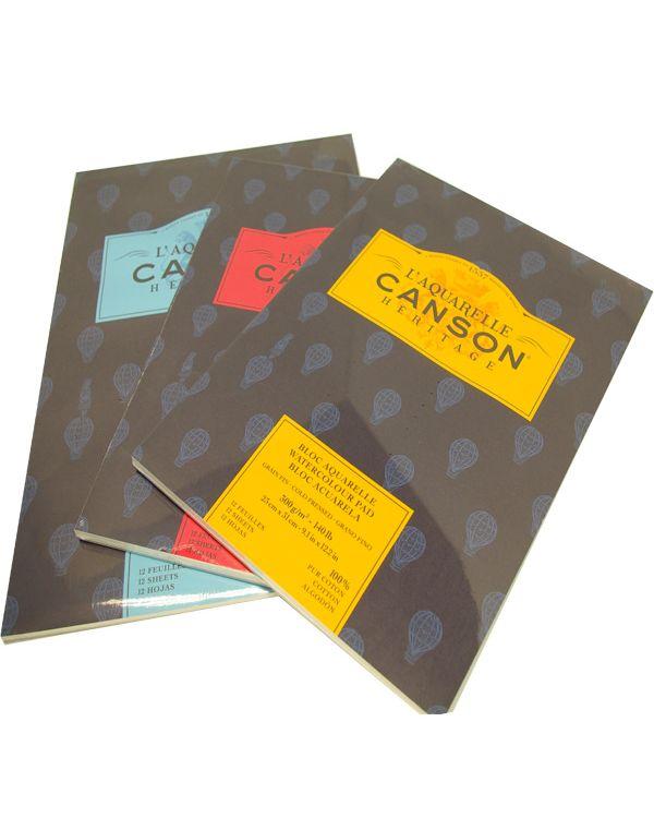 Rough - 26 x 36cm - 300gsm - Canson Héritage Pad
