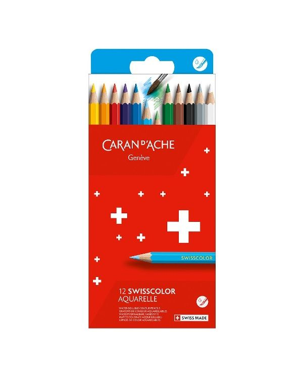Caran D'ache Swisscolor Aquarelle in Cardboard Box