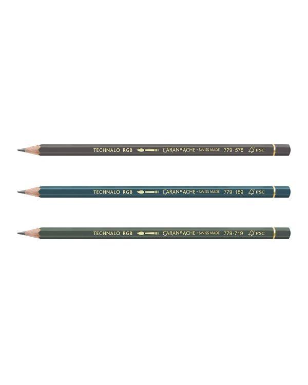 Technalo Watersoluble RGB Pencil 3B - Caran D'Ache
