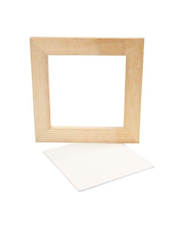 Natural 20.8x20.8cm Framed Canvas Panel