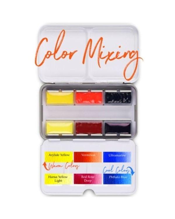 Watercolour Mixing Pan Palette x 6 pans - Da Vinci Paint Watercolour Sets