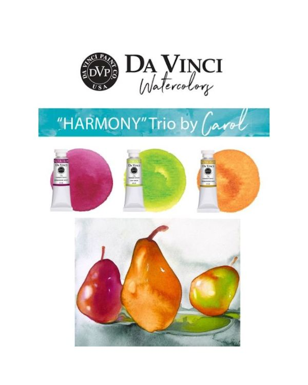 Carol's Harmony Trio - Da Vinci Paint Watercolour Sets