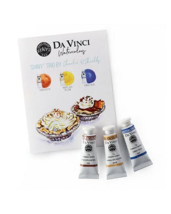 Charlie's Shiny Trio - Da Vinci Paint Watercolour Sets