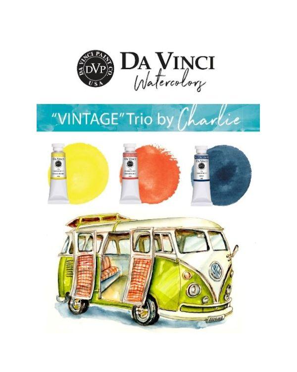 Charlie's Vintage Trio - Da Vinci Paint Watercolour Sets