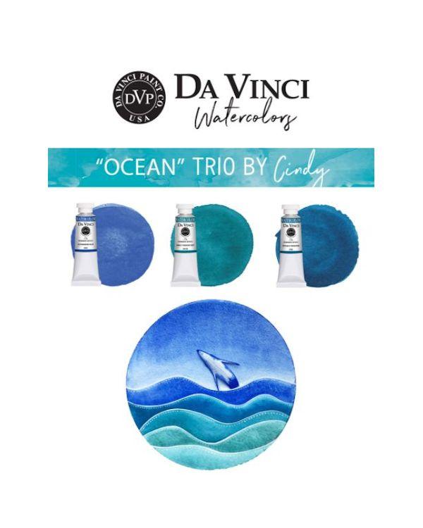 Cindy's Ocean Trio - Da Vinci Paint Watercolour Sets