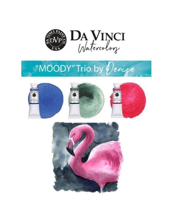 Denise's Moody Trio - Da Vinci Paint Watercolour Sets