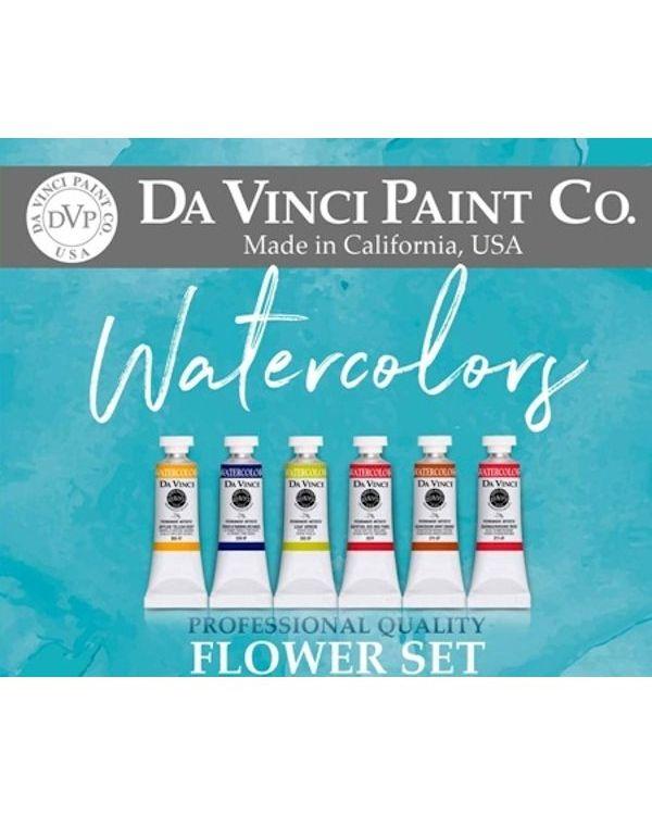 Flower Set of 6 x 15ml Tubes - Da Vinci Paint Watercolour Sets