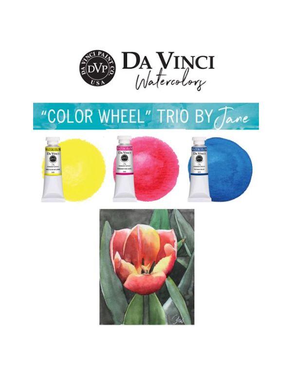 Jane's Colour Wheel Trio - Da Vinci Paint Watercolour Sets