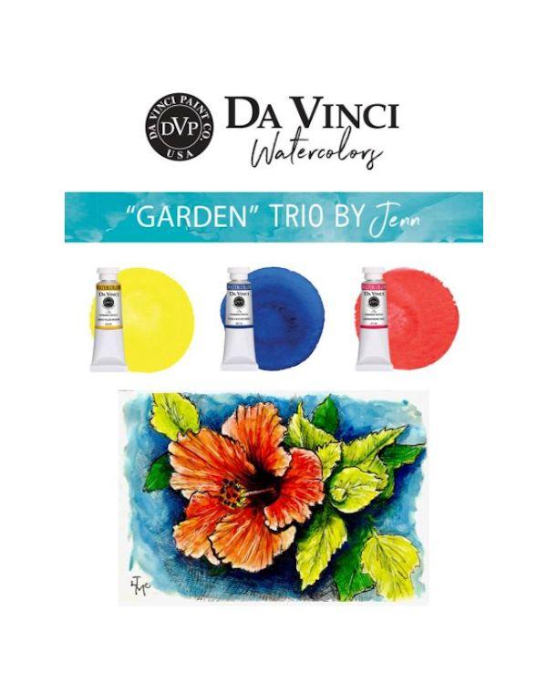 Jenn's Garden Trio - Da Vinci Paint Watercolour Sets