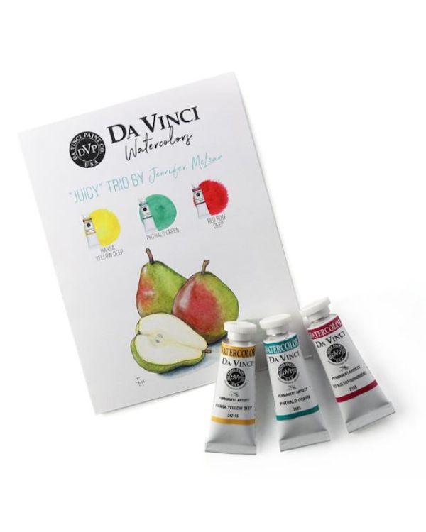 Jenn's Juicy Trio - Da Vinci Paint Watercolour Sets