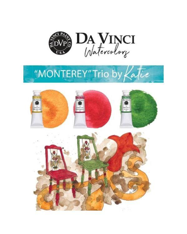 Katie's Monterey Trio - Da Vinci Paint Watercolour Sets