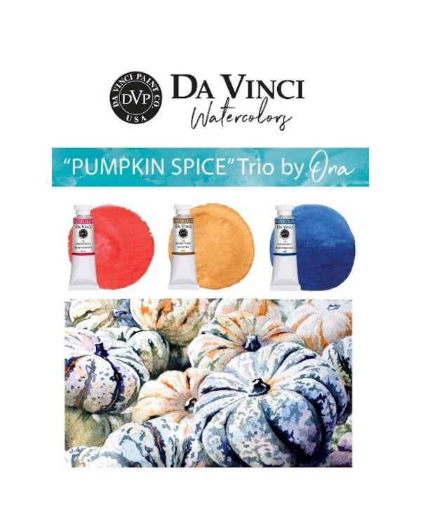 Ona's Pumpkin Spice Trio - Da Vinci Paint Watercolour Sets
