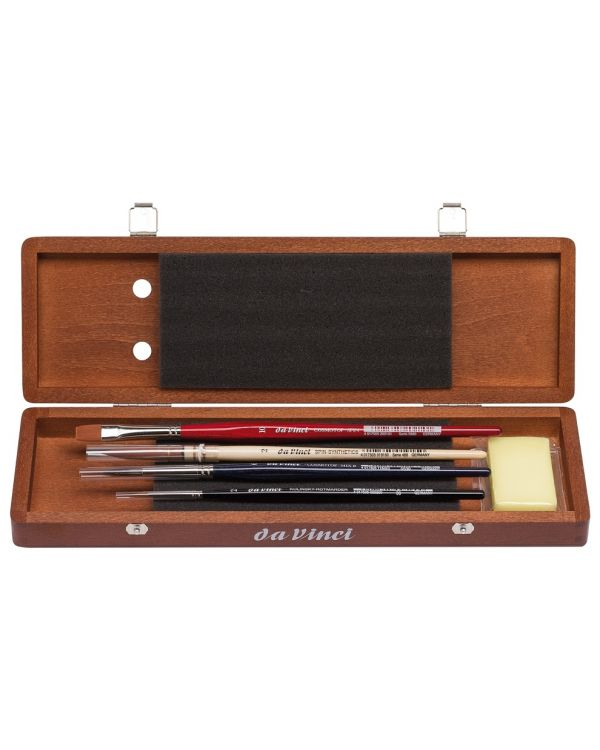 Da Vinci Watercolour Brush Set Compact Wooden Box