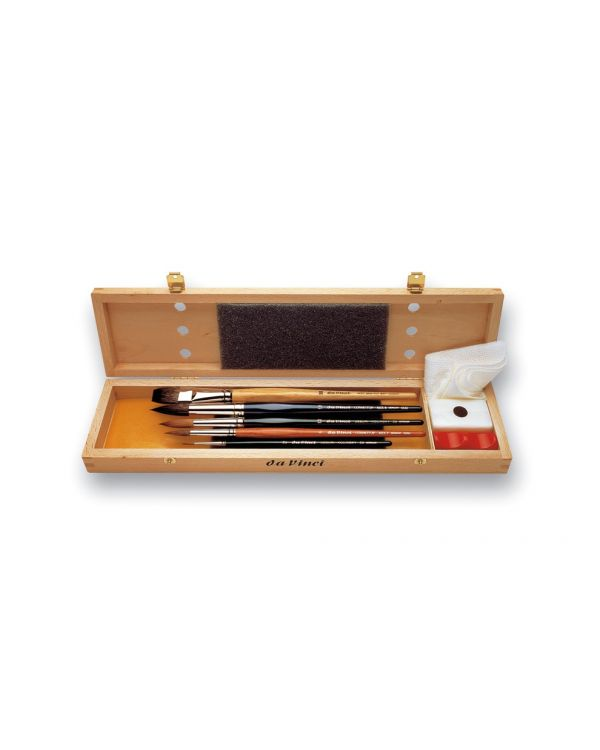 Da Vinci Watercolour Brush Set Large Wooden Box