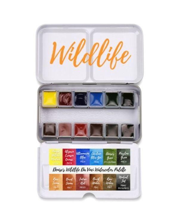 Denise's Wildlife Palette x 12 half pans - Da Vinci Paint Watercolour Sets