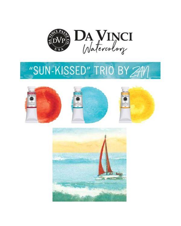 Zan's Sun Kissed Trio - Da Vinci Paint Watercolour Sets
