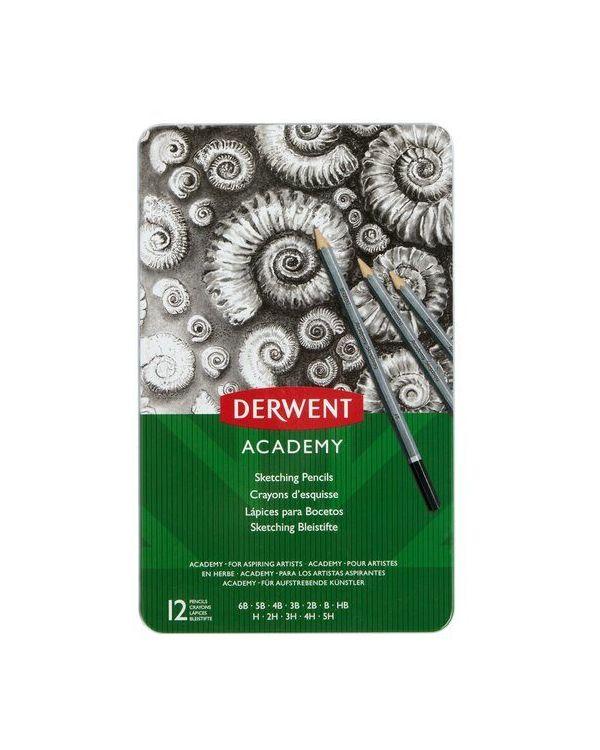 Derwent  Academy Set Sketching pencils Tin 12