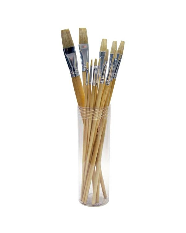 Bristle brush set flat