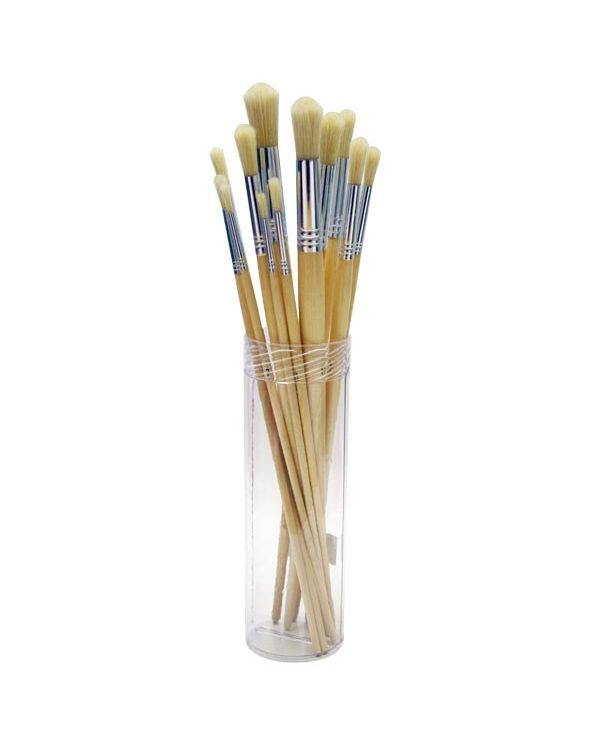 Bristle brush set round