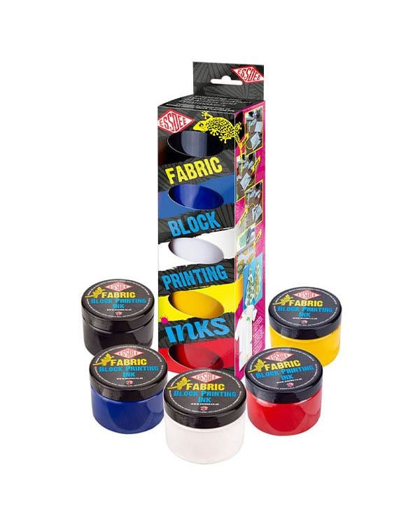 Primary Colours Set of 5 - Essdee Fabric Block Printing Ink