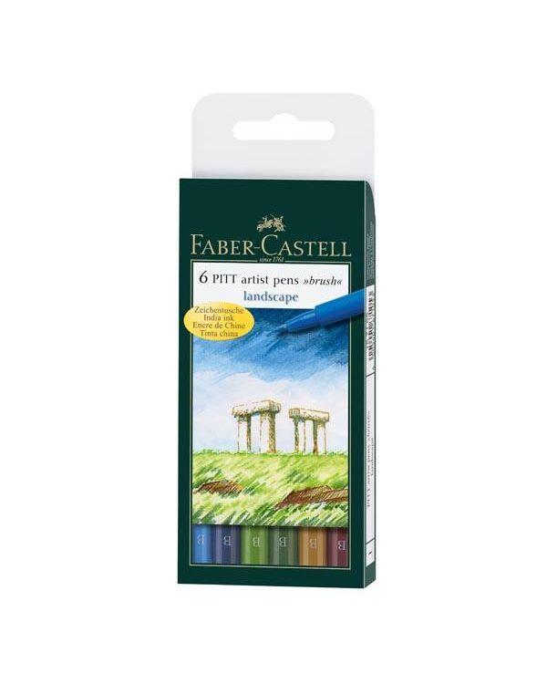 Faber Castell Pitt Brush Pen Sets