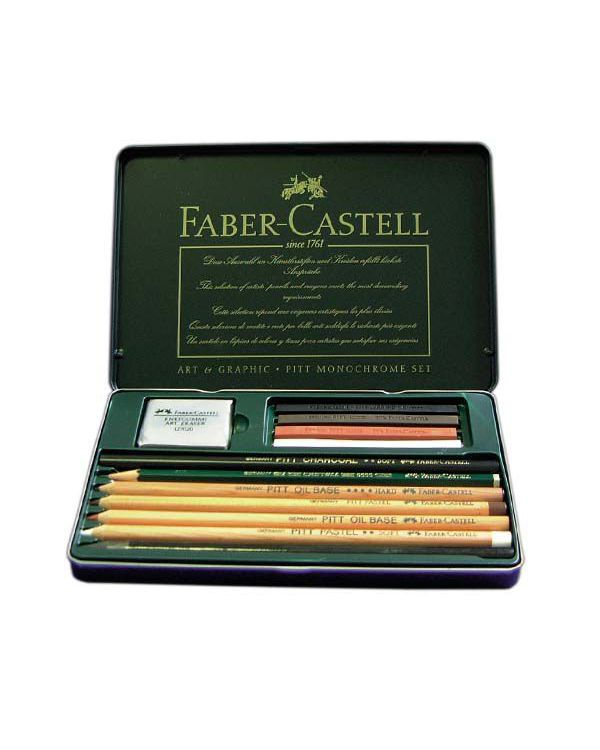 Monochrome Pitt set 12 - Faber Castell