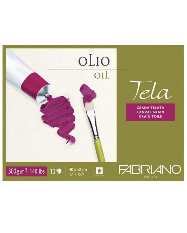 30 x 40cm - 300gsm - Fabriano Tela Oil Block -