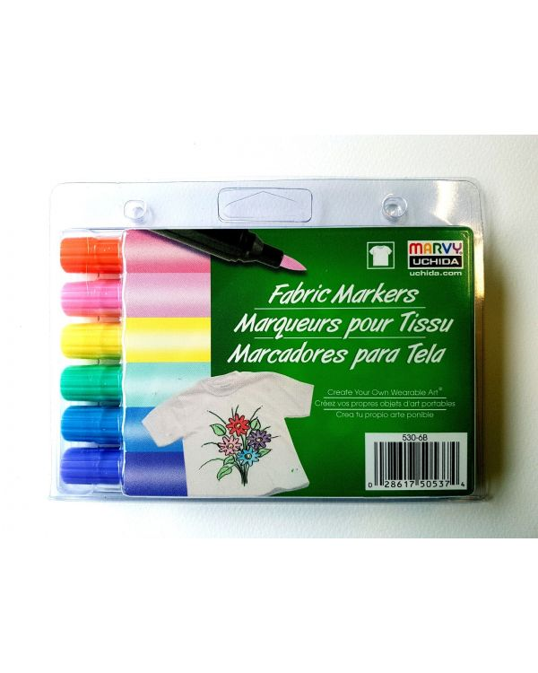 Marvy Uchida Fabric marker set (6) Pastel/pale tones